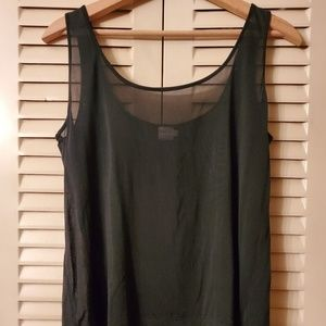 UnderSilk 100%Silk Sheer Black Camisole